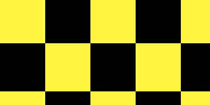 FLG CKYBK - Yellow/Black Checkerboard Flagging